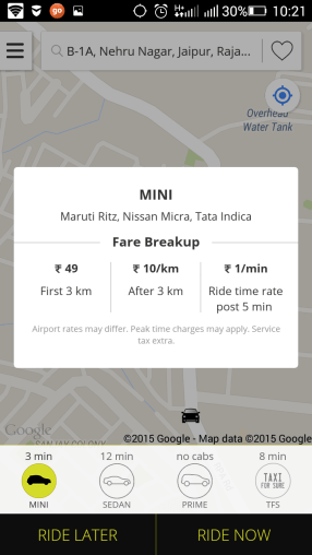 OLA MINI RATES