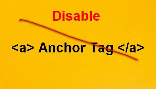 Disable Anchor tag