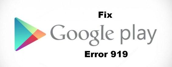 error 919 fix