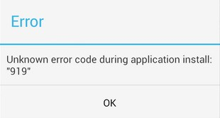 error 919