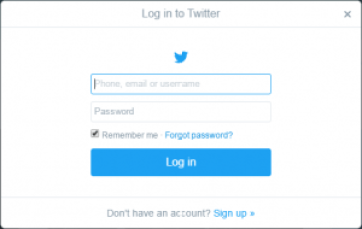 Log in to your Twitter Account
