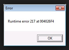 How to Fix Runtime Error 217