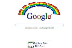 google rainbow trick