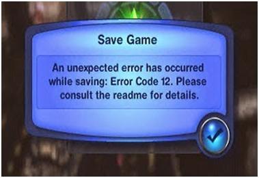sims 3 error code 12