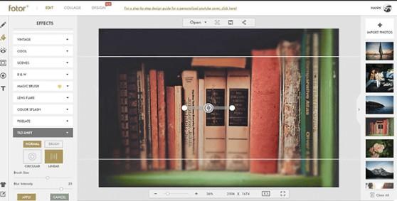 Unblur a photo online