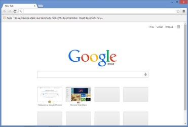 Go to Chrome & Go to address bar