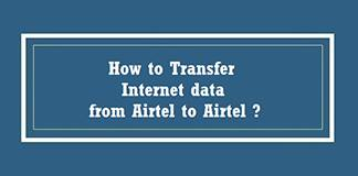 How to Transfer Internet data (MBs) From one Mobile SIM to