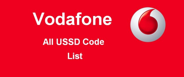Vodafone all USSD code list