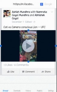 save facebook video to iphone