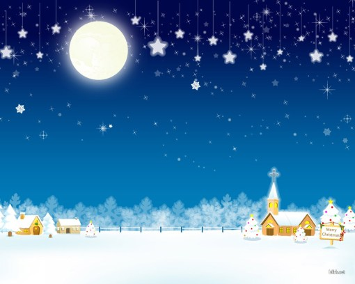 christmas-snow-village-wallpaper