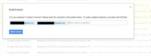 forward multiple email gmail