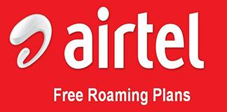 Airtel Free Roaming Incoming Outgoing Plans Activation for 1 day and monthly