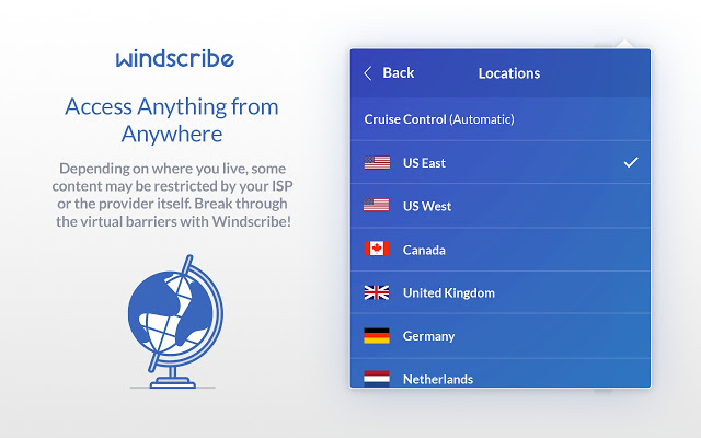 Windscribe VPN services