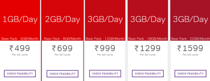 POSTPAID PLANS FOR 4G AT HOME