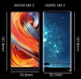 OUKITEL MIX 2 Design and Display