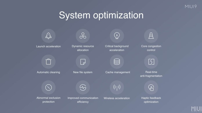 changes in MIUI 9 and MIUI 10