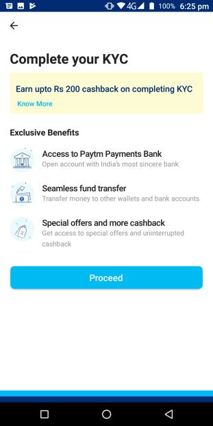 PayTM KYC Process
