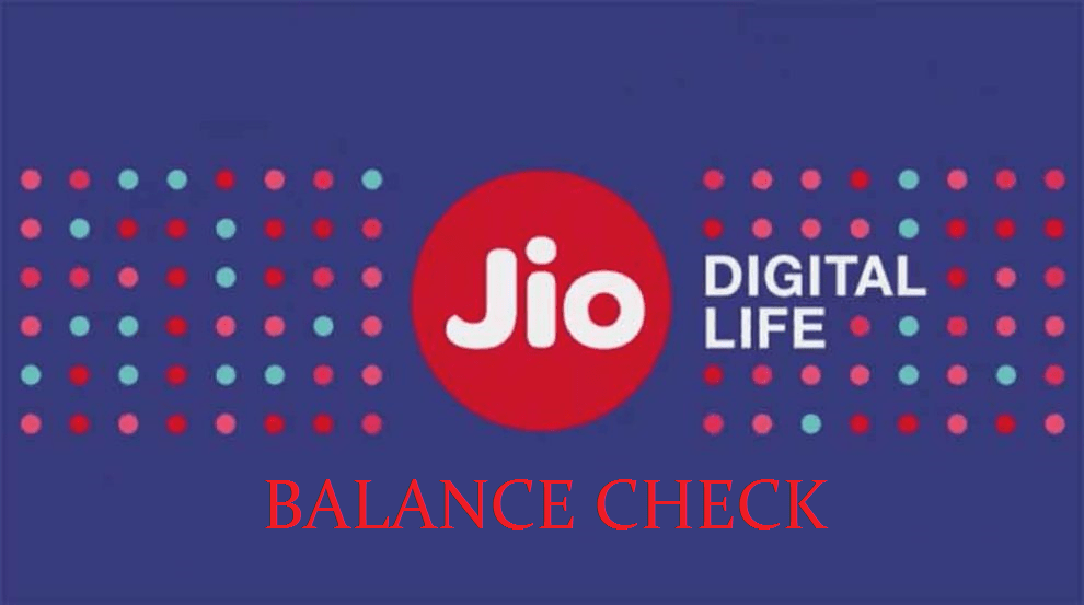 jio 4g data balance check number
