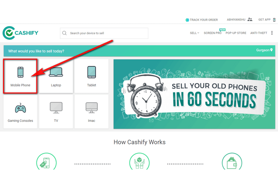 sell your phone on Cashify