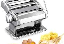 Abhsant Stainless Steel Pasta Maker & Roller Machine, Noodle Spaghetti & Fettuccine Maker