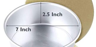 Charles Delight Aluminium Cake Mould (7 inch x 2.5 inch) + Cake Base Board