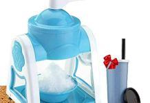 DELWOR Ice Crusher Manual Multifunction Portable Ice Slush Maker Home Snow Cone Smoothie Ice Block Making Machine Ice Shaver Gola Maker Machine(Free Juice Bottle)