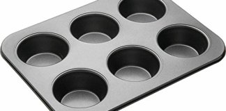 SYGA Muffin Cup Cake Tray for 6 Muffins Bakeware_Black