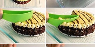 VIDHI Enterprises Cake Pie Leaf Cutter Plastic Aerodynamic Cutting Machine Cake Tools Practical Novel Small Cake Pie Slicer Baking Kitchen Accessories