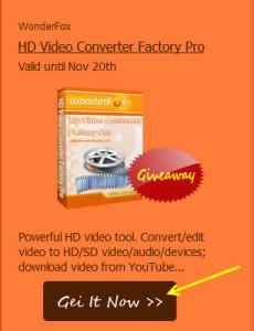 Wonderfox HD Video Converter Giveaway