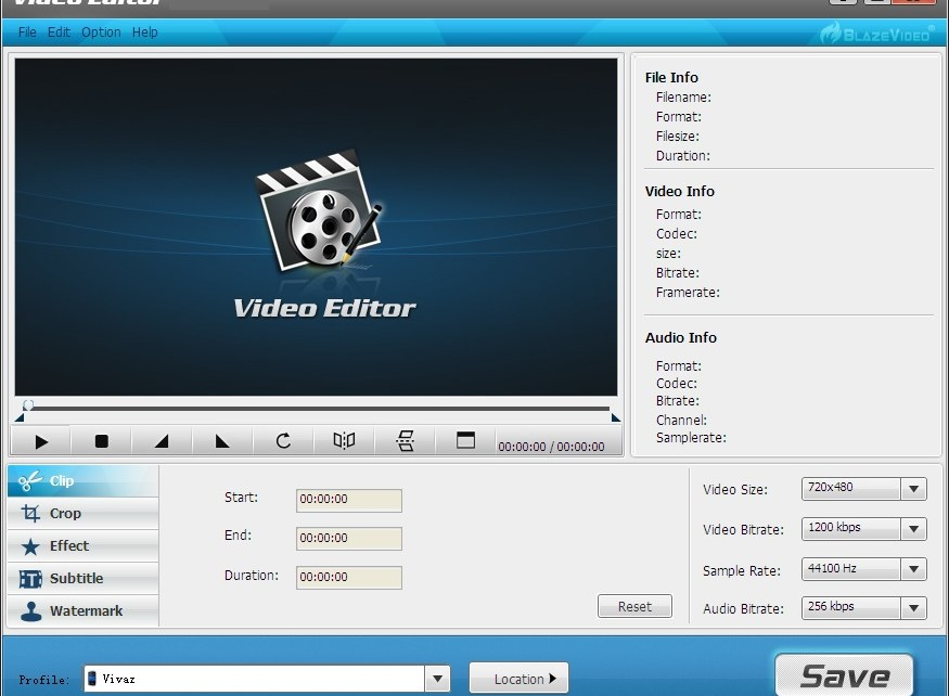 BlazeVideo Editor
