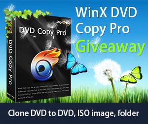 WinX DVD Copy Pro Giveaway