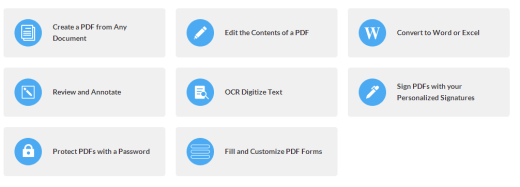 Wondershare PDF Features