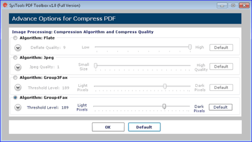 SysTools PDF Toolbox Advance Compression