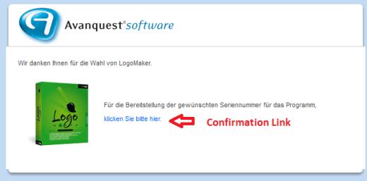 LogoMaker Confirmation Link