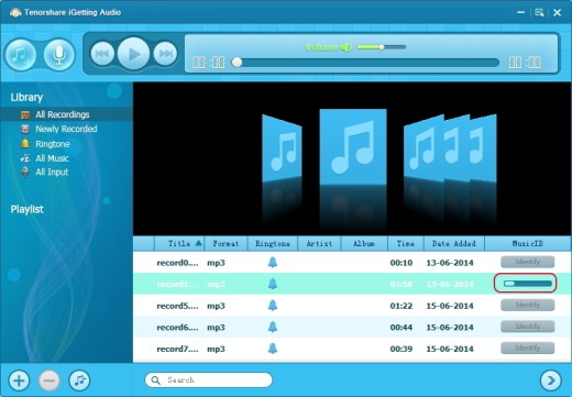Tenorshare iGetting Audio Panel