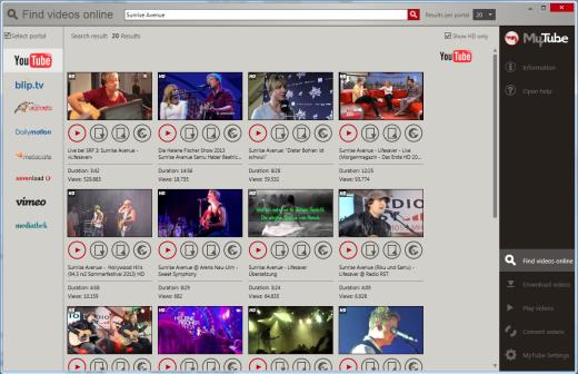 Video Website Options