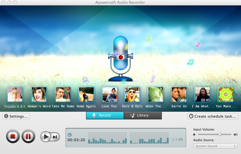 Apowersoft Audio Recorder for Mac