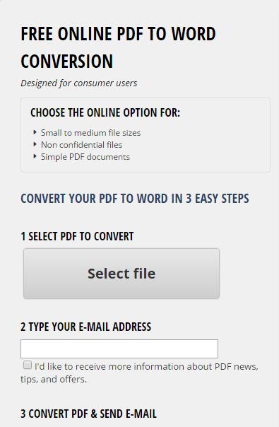 Free PDF to Word Converter