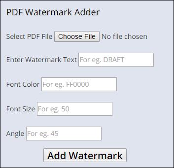 Insert Watermark