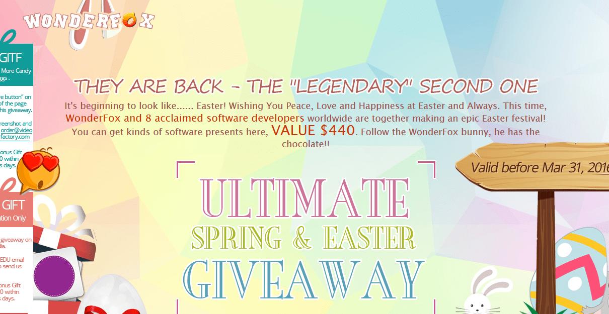 WonderFox Easter Giveaway