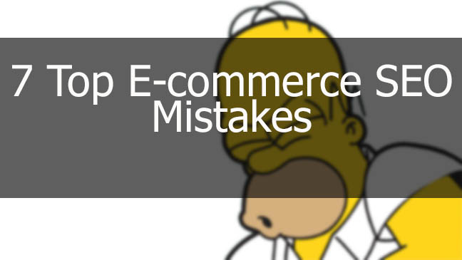 E-commerce SEO Mistakes