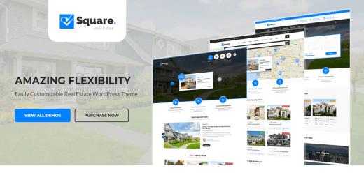 Square Real Estate WordPress Theme
