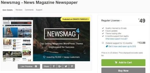 Paid WordPress Theme