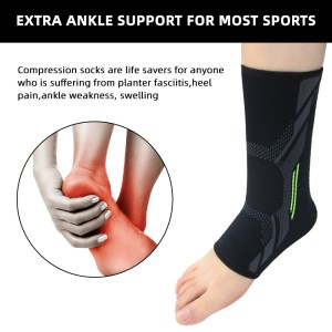 Professional Foot Sleeve Ankle Brace Ankle Support for Sprain/Tendonitis & Heel Pain Relief