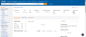 Ahrefs doesn't show my website status