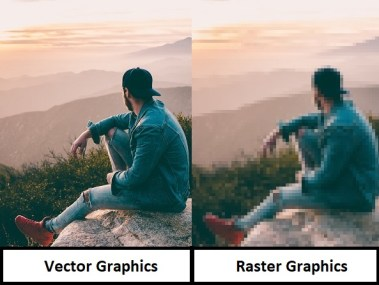Difference between Vector and Raster graphics with Example