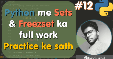 How to use sets and related methods of sets in python | Full Python Course in Hindi
