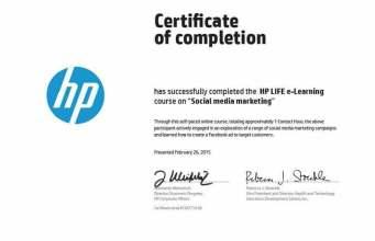 كورسات اونلاين من شركة HP في 4 مجالات