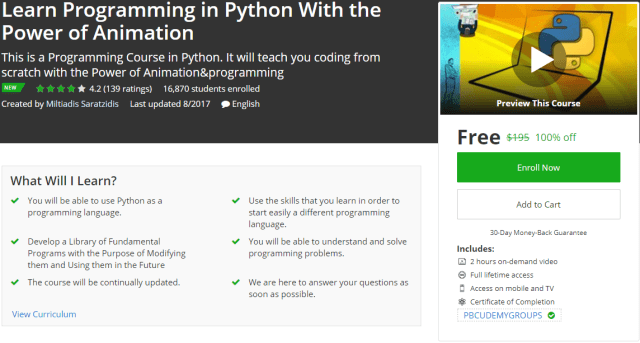 Learn Programming in Python With the Power of Animation
