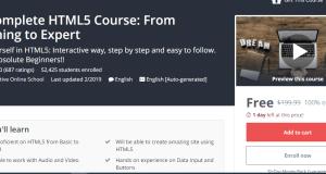 تعلم HTML 5 مجانا